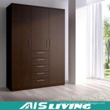 Placard classique 3 portes et 5 tiroirs (AIS-W370)