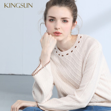 Female New Design Wool Pullover Retro Popular Woman Knitwear