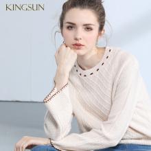 Female New Design Wool Pullover Retro Popular Woman Knitwear