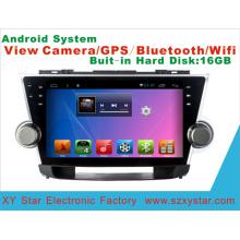 Système Android Car DVD GPS Player pour Highlander Écran tactile 9 pouces avec Bluetooth / MP4