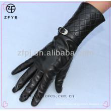 ZF2661 Guante de cuero femenino de la manera de la manera