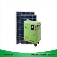 Oem 1Kw weg von der Gitter-Energie wieder aufladbarer Solarbeleuchtungs-Generator für Haus