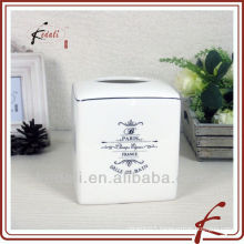 french style ceramic tissue box