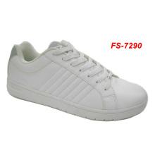 cheap white casual shoe for man and woman,cheap plain white skateboard shoes