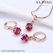 61203-Xuping Fashion Woman Jewlery Set con baño de oro de 18 quilates