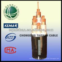 Grade do estado 1KV XLPE isolou o tipo do cabo de poder Fire-resistant do Não-halogênio