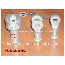 electric line fitting insulator end clevis hot-dip galvanized insulator socket power pole line hardware fitting