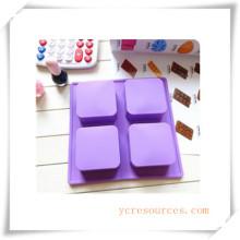 16 Cavity Oval Silikonform für Seife, Kuchen, Cupcake, Brownieand Mehr (HA36015)
