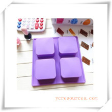 16 Cavity Oval Silicone Mold for Soap, Cake, Cupcake, Brownieand More (HA36015)