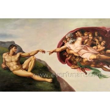 Wanddekor Handgemachtes reizvolles nacktes Frauen-Anstrich Ebf-029