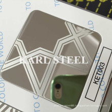 High Quality 201 Stainless Steel Ket003 Etched Sheet