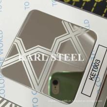 Folha gravada Ket003 de aço inoxidável 201 de alta qualidade
