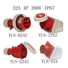 32А 4-контактный IP67 Промышленный вилки и розетки