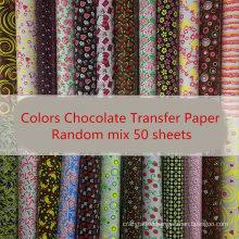 Colors Chocolate Transfer Paper DIY Baking Edible Cake Decoration Transfer Paper for Chocolate Cake