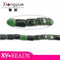Wholesale Loose Gemstone Beads Dark Green Square Beads