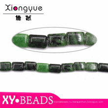 Бусины оптовая свободно Gemstone Бусины темно зеленый квадрат