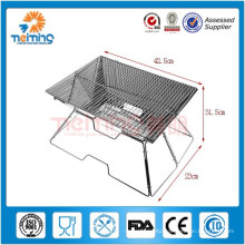 Outdoor Stainless Steel Foldable Pinic BBQ Grill