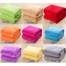 Solid Color Flannel Fleece Blanket