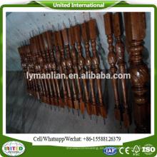 escalera de madera husos balaustrada de madera