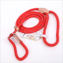 5 Color 3 Tamaño Slip Collar Cuerda Dog Leash P Chain Nylon Puppy Dog Leash Rope