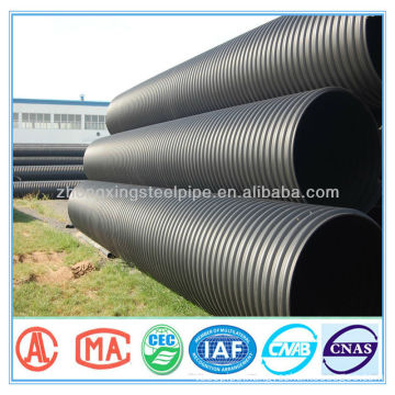 PN16 HDPE double-wall corrugated pipe for drainage and sewage in Mid-East Market