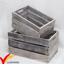 Старинные старинные ручные старинные старые переработанные деревянные ящики для фруктов на продажу