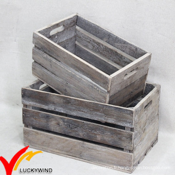 Vintage Ancient Antique à la main Rustique Old Recycled Wooden Fruit Crates for Sale