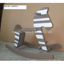 Factory Supply Rocking Horse-Wooden Rocker with Stripe