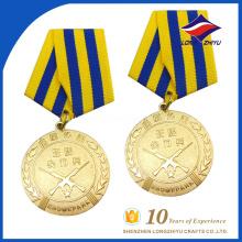 Fábrica de venda direta medalhas de honra personalizadas de alta qualidade
