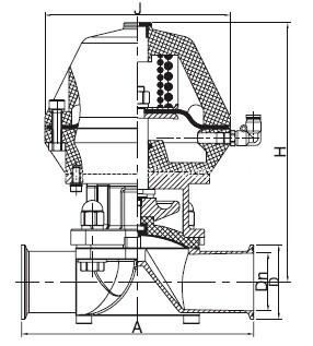 Dimension-of-Clamped-Pneumatic-Diaphragm-Valve