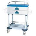 Carro de dispensación de la bandeja de medicina desmontable de 2 capas del hospital