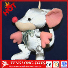 New type of fabric fashion reflect light plush keychain