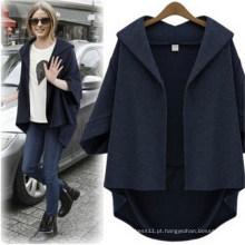 Moda Casual Solta Bat-Like Sleeve Mulheres Outerwear Jacket (50009)