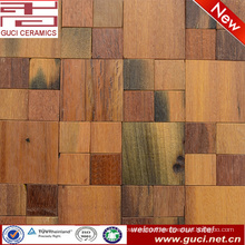Natural Old Boat Wood Mosaic Tile For Interior Wall And Club Wall