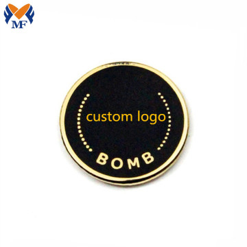 Metal Customized Round Magnet Badge For Suit