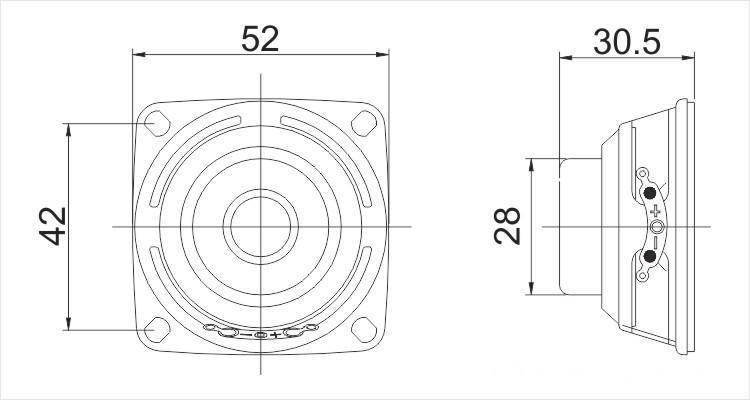52mm speaker driver 4ohm 8w 8ohm 10w
