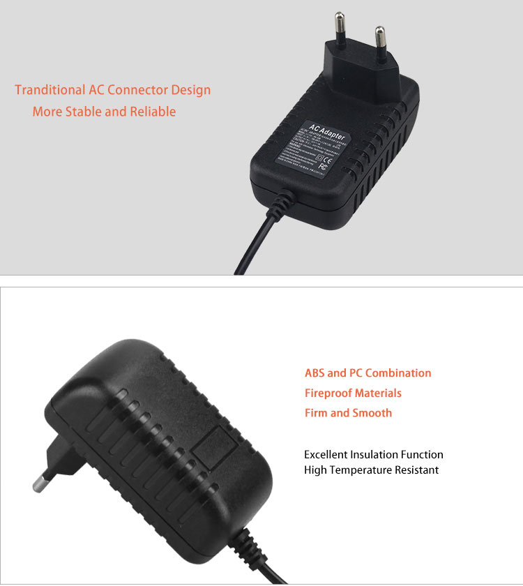 9V 1A 9W wall charger