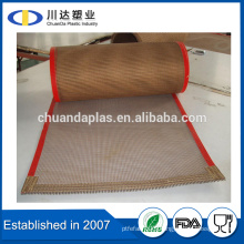 Textile Drying Belts High temperature teflon coated fiberglass mesh conveyor belt