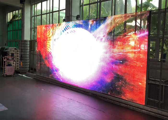 transparent LED screen video wall