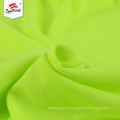 Tissu jersey simple de coton tricoté en polyester vert personnalisé