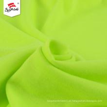 Tela feita sob encomenda do jérsei do algodão verde feito sob encomenda da malha do poliéster