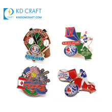 High Quality Custom Design Your Own Metal Enamel Epoxy Resin Sport Softball Base Ball Baseball Lapel Pin for Souvenir