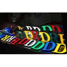 Personnaliser tous les signes de lettre extérieurs d'entreprise LED rétro-éclairés par couleur de Facelit