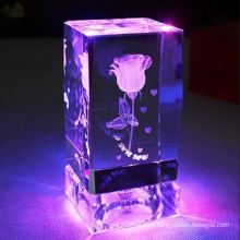 High Quality 3D Laser Engraving Cube for Birthday Gift