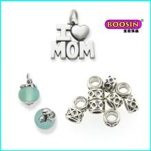 Nach Maß Legierung Großhandel Günstige Love Mom Silber Halskette Anhänger