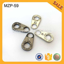 MZP59 Promotional fashion zinc alloy revolved clothing zip puller with stone