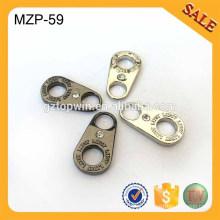 MZP59 liga de zinco de moda promocional revolvido puller zip roupa com pedra
