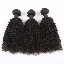 Brazilian virgin human hair unprocessed no dyed natural black kinky curly human hair extensions for black women