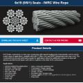 6X19 (9/9/1) Seale - IWRC Wire Rope
