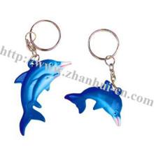 Plastic Elegant Dolphin Key Chain